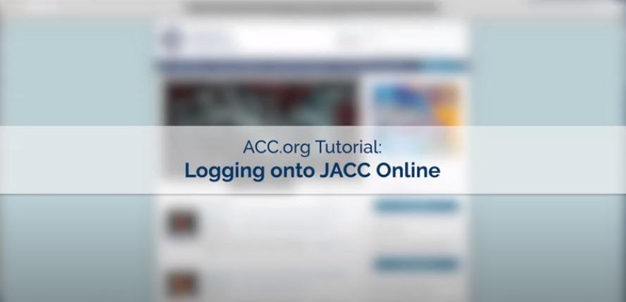 ACC.org Tutorial: Logging onto JACC Online