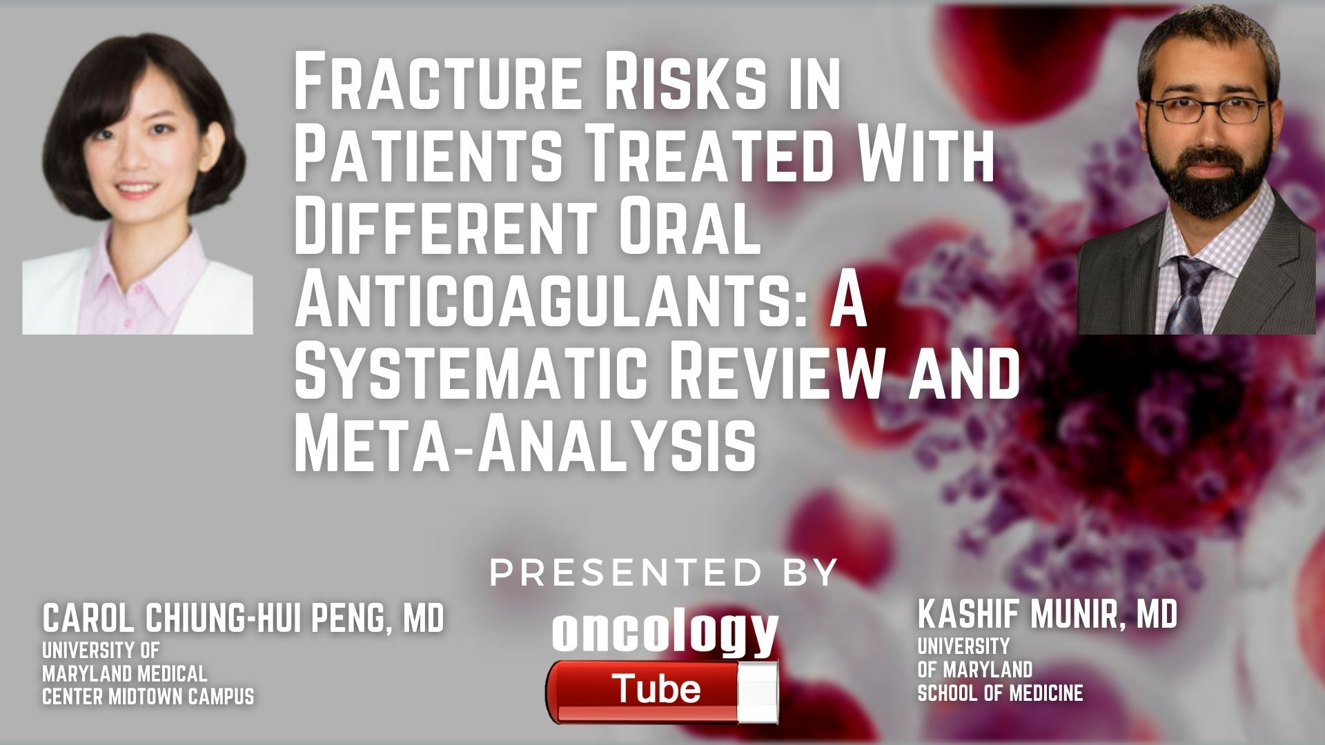 Carol Peng, MD Kashif Munir, MD @CCPeng98 @ummidtownim #HualienTzuChiHospital #Anticoagulants #Cardiology #Research Fracture Risks in Patients Treated With Different Oral Anticoagulants