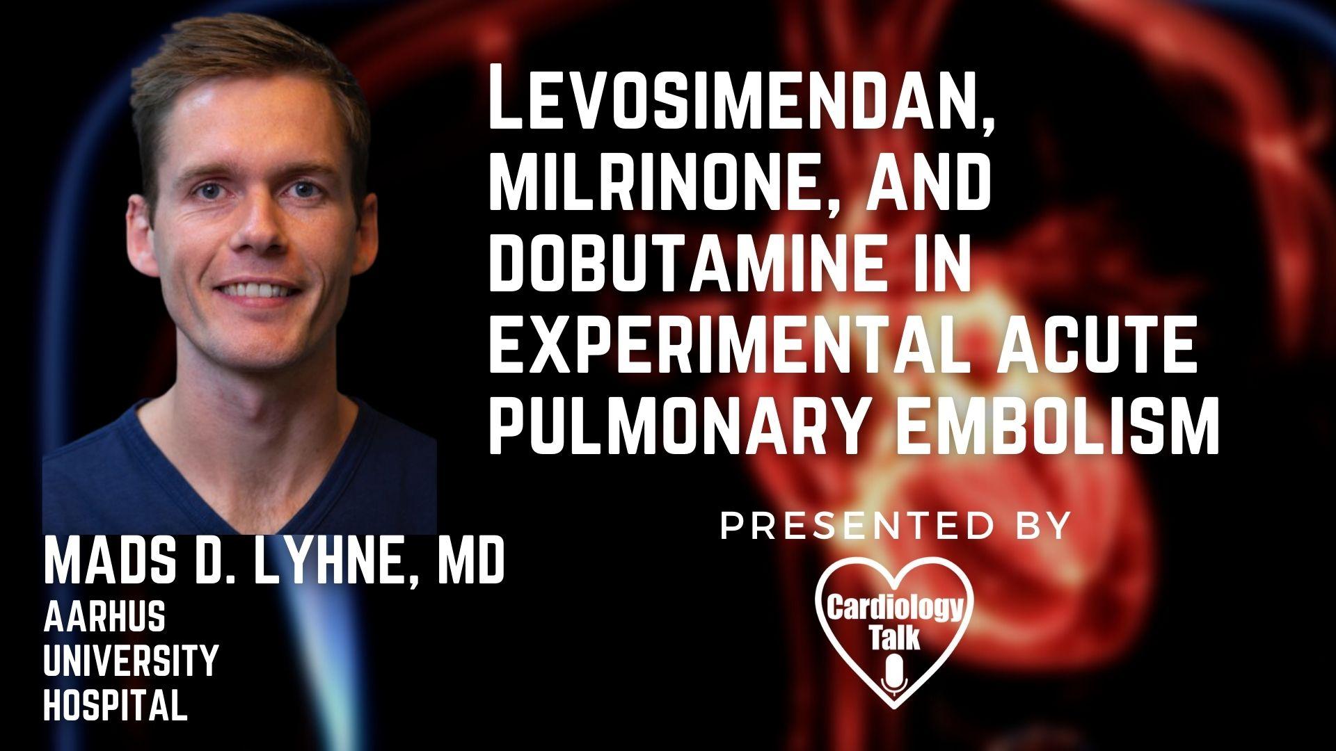 Mads D. Lyhne, MD @MadsDam_MD @AUHdk #AcutePulmanaryEmbolism #Cardiology #Research Experimental Acute Pulmonary Embolism